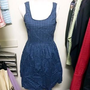 Retrolicious plaid retro dress size Large